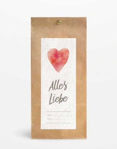 """""""Alles Liebe"""" Geschenksäckchen breit"""