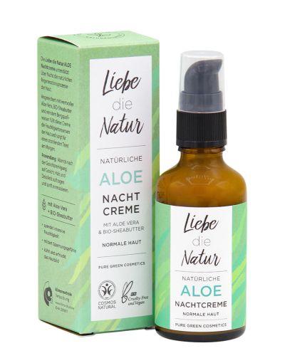 Liebe die Natur - natürliche Nachtcreme Aloe