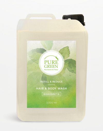 Pure Green BIO Hair & Bodywash Zitronenmelisse - Kanister 3 Liter