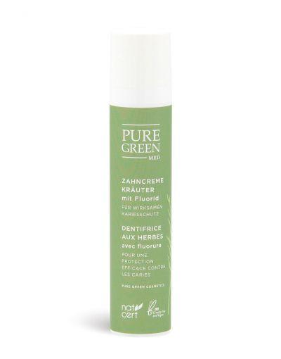 Pure Green MED | Basic Care | Zahncreme Kräuter mit Fluorid
