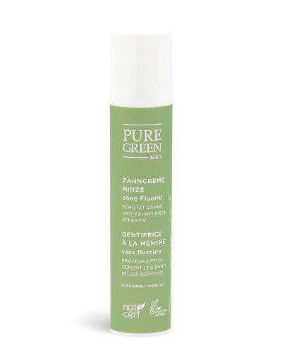 Pure Green MED | Basic Care | Zahncreme Minze ohne Fluorid