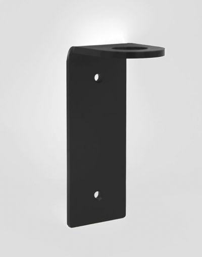 Wandhalterung Acrylglas schwarz matt